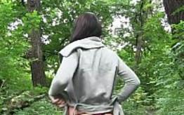 Follada POV en medio del bosque