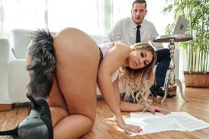 Secretaria culona pone el rabo de su jefe duro como una piedra