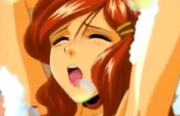 Tetona hentai le pide sexo duro en la bañera de casa