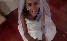 Esposa latina folla con su nuevo marido en la luna de miel